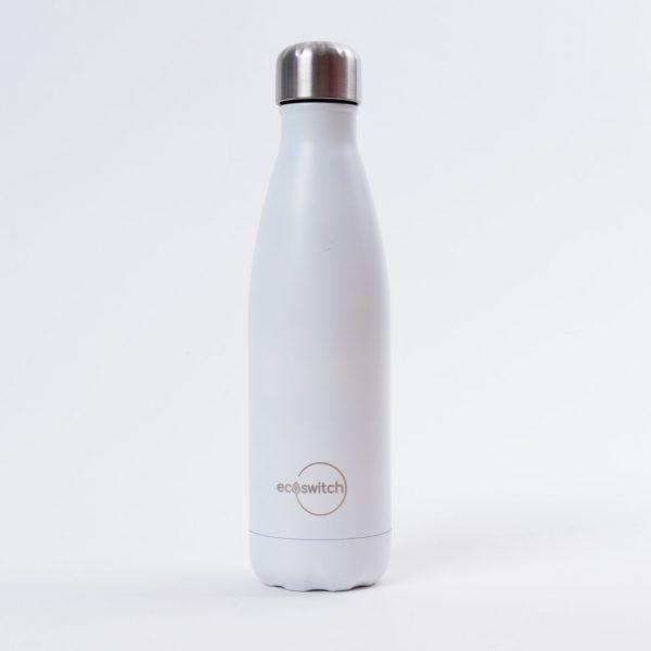 Бяла метална бутилка