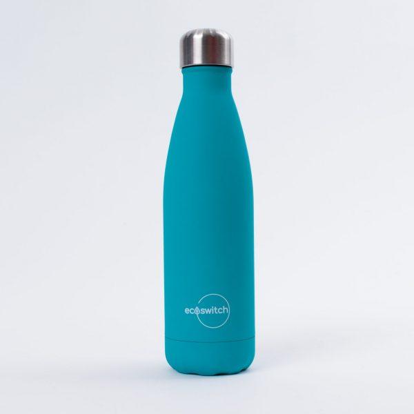 Тъмносиня метална бутилка за вода