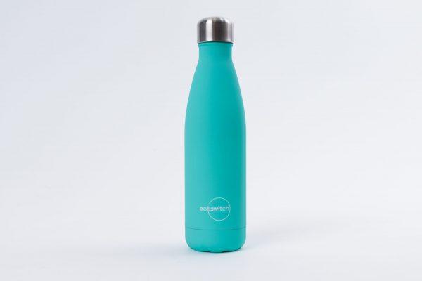 Синьозелена метална бутилка за вода