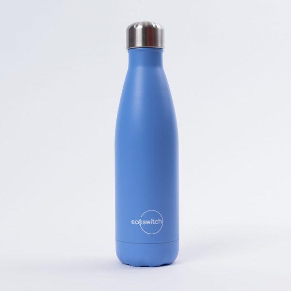 Лилава метална бутилка за вода