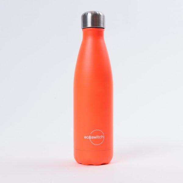 Оранжева метална бутилка за вода