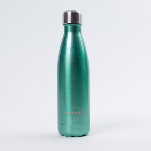 Перлено зелена метална бутилка за вода