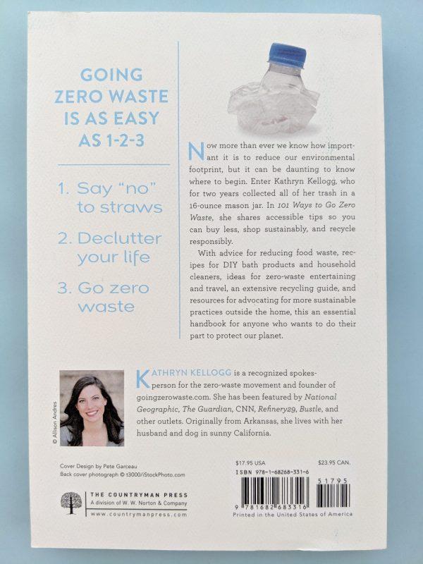 Гърбът на книга с илюстрация на смачкана пластмасова бутилка