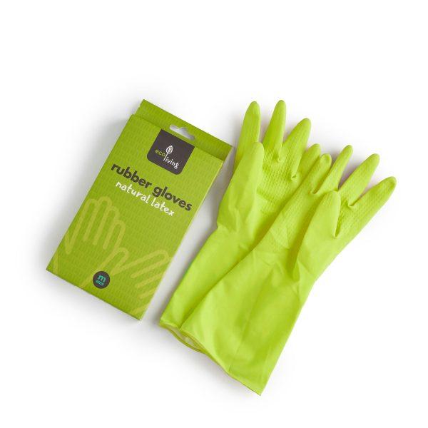 Green latex gloves